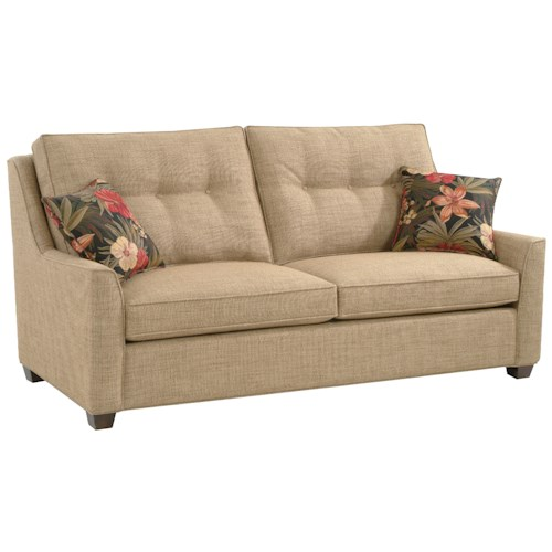 Braxton Culler 745  Stationary Cambridge Sofa with Button Tufted Seat Back