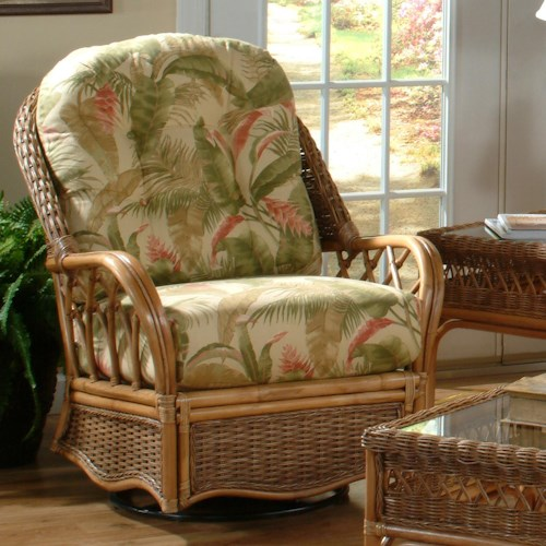 Braxton Culler Everglade Tropical Style Everglade Swivel Glider Chair