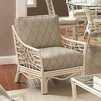 Braxton Culler 909 Tropical Rattan Chair with Sloped Arms