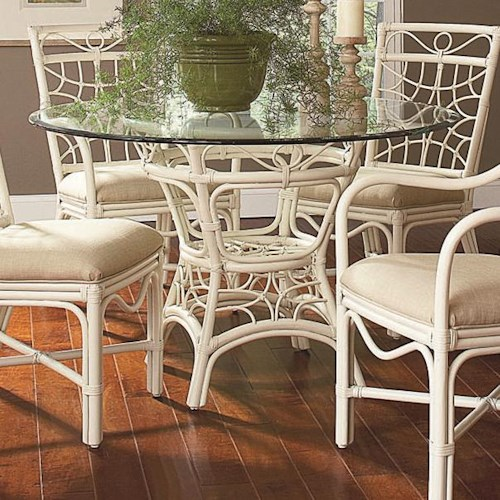 Braxton Culler 909 Tropical Rattan Dining Table with 48