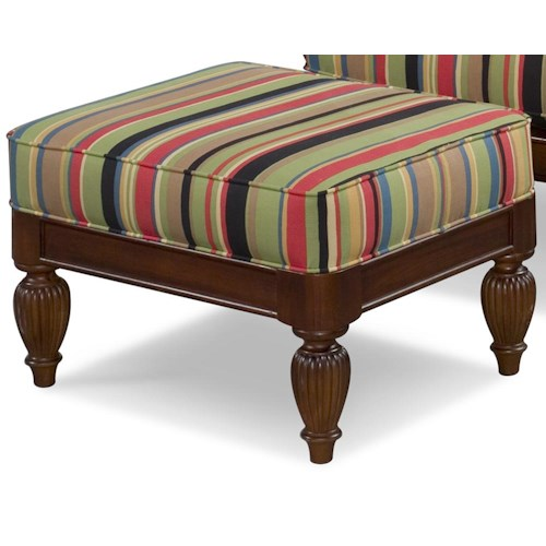 Braxton Culler 934 Upholstered Wood Base Ottoman