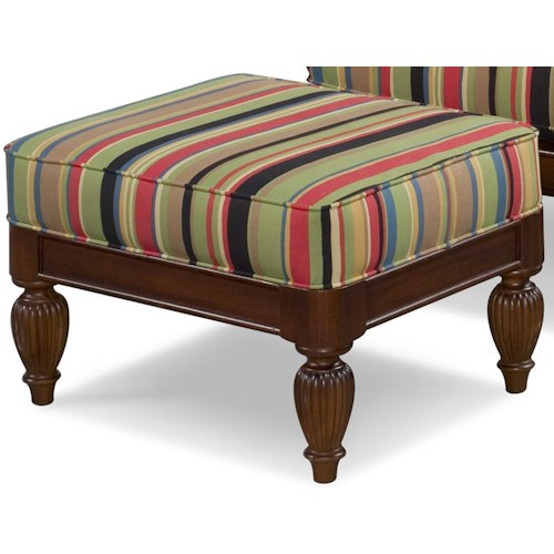 Braxton Culler Grand View Upholstered Wood Base Ottoman