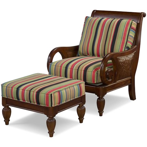 Braxton Culler Grand View Accent Chair and Ottoman