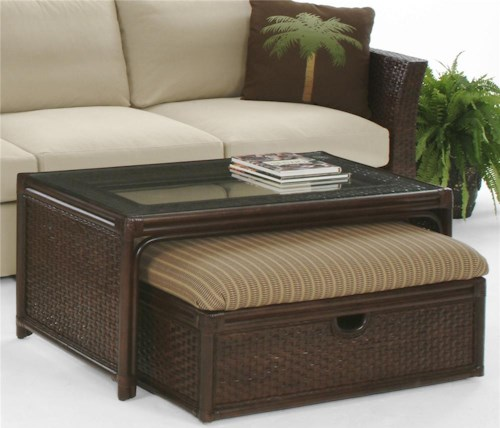 Braxton Culler Grand Water Point Cocktail Table with Upholstered Seat Bench