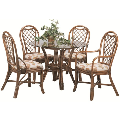 Braxton Culler 979 Five Piece Trellis Table and Chair Set