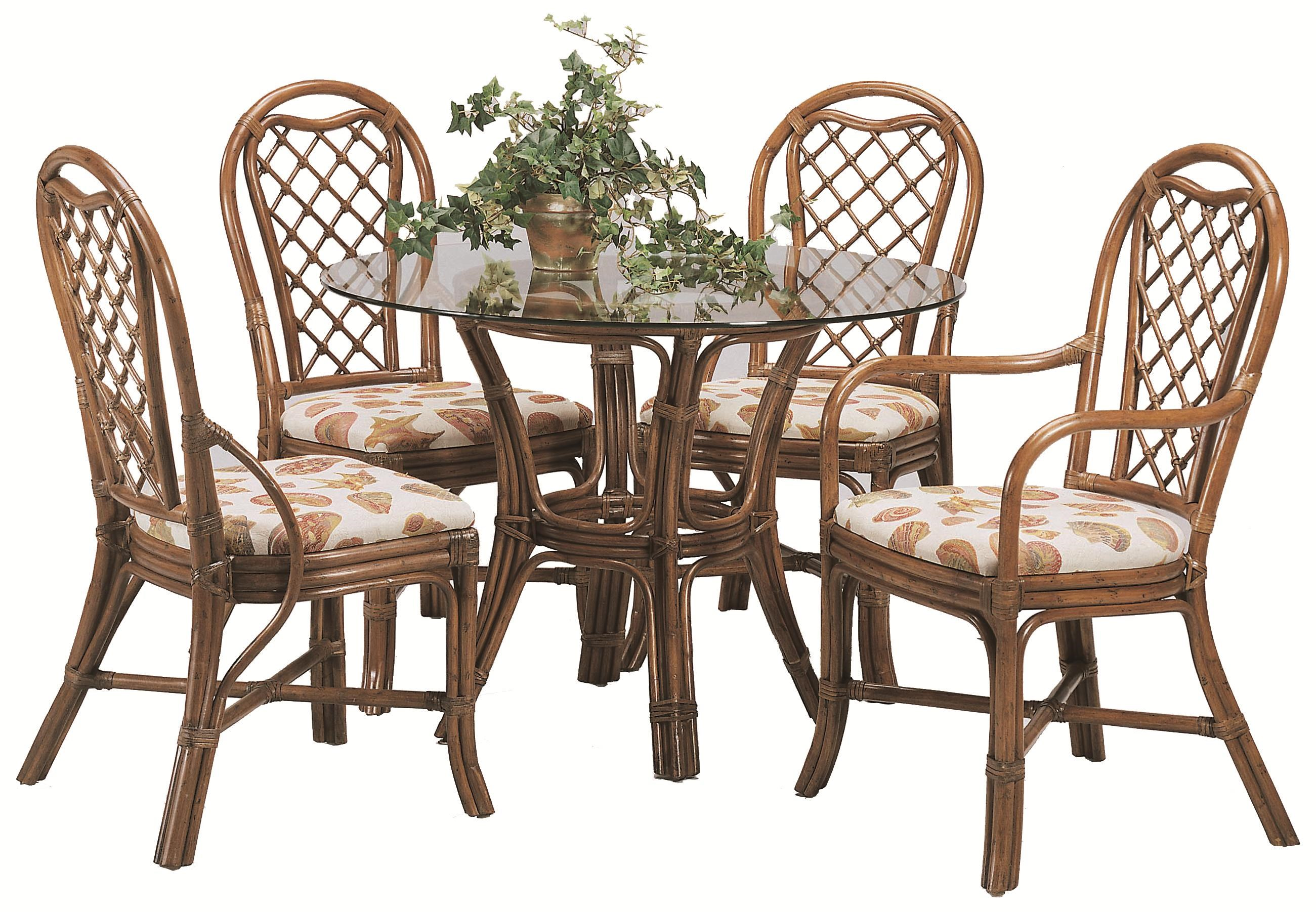 Shown With Side Chairs And Arm Chair