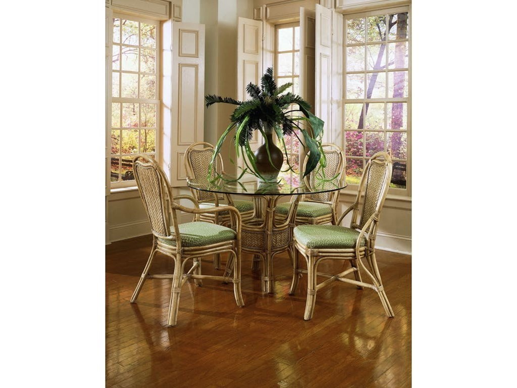 promo code 10c6d a3db6 Braxton Culler Acapulco Wicker Rattan Dining Table and Chair ...