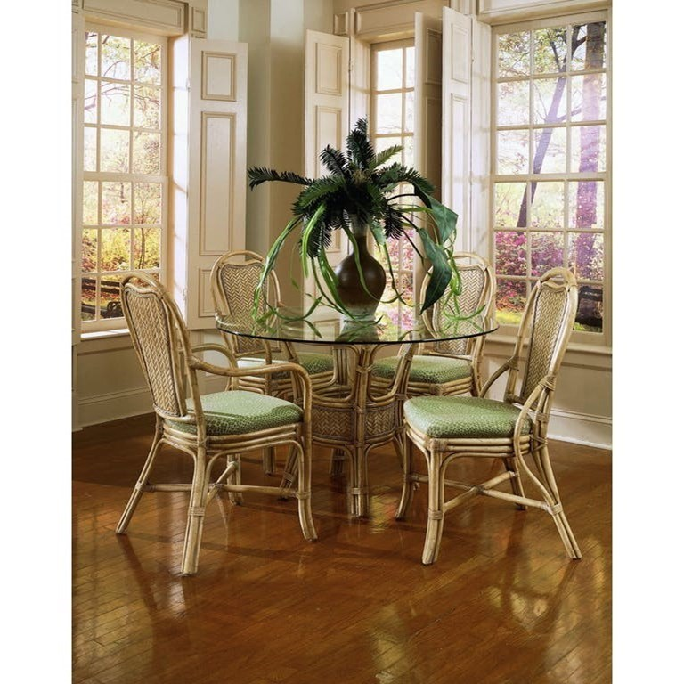 Braxton Culler Acapulco Wicker Rattan Dining Table And Chair Set