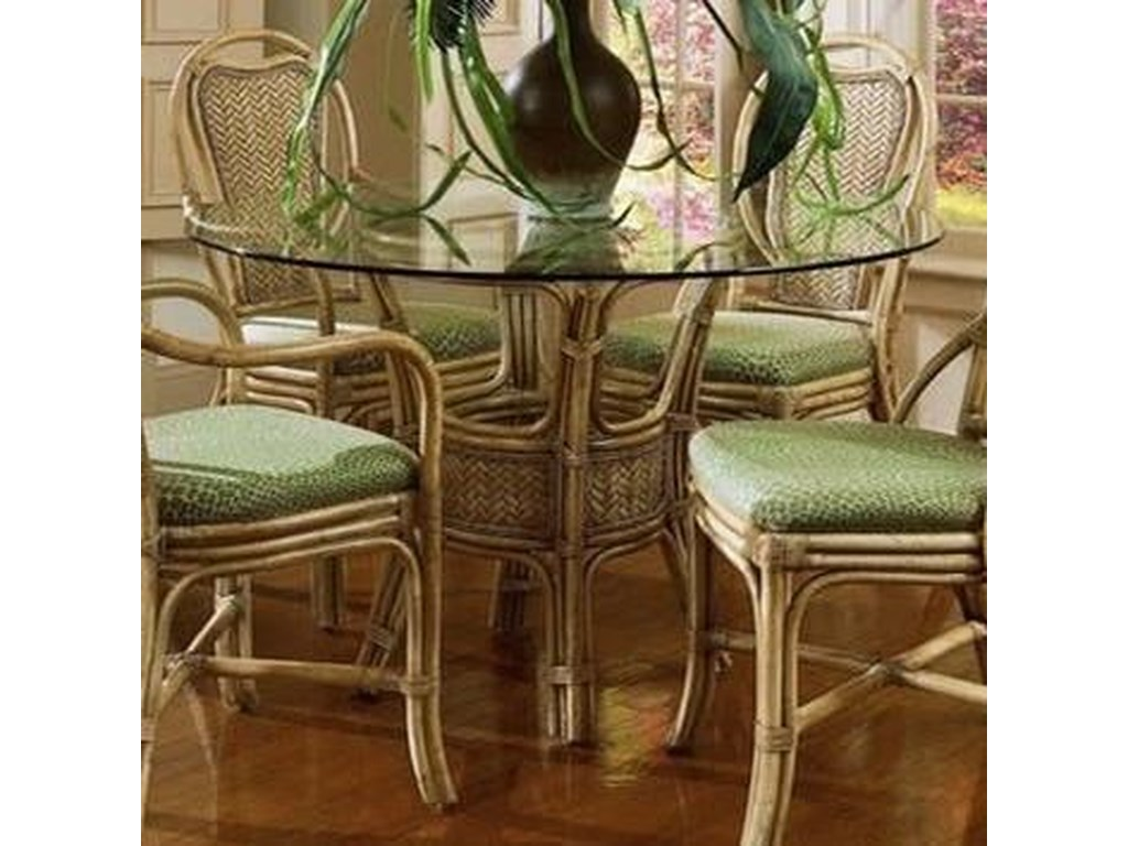 Acapulco Wicker Rattan Dining Table With Gl Top By Braxton Culler