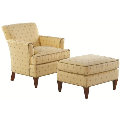 Braxton Culler Accent Chairs Tuscany Accent Chair with Sloane Sea-Side Ottoman