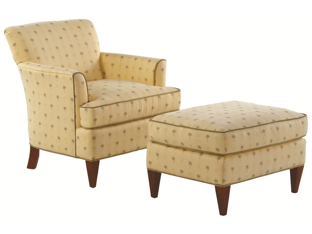 Braxton Culler Accent ChairsTuscany Chair with Sloane Ottoman