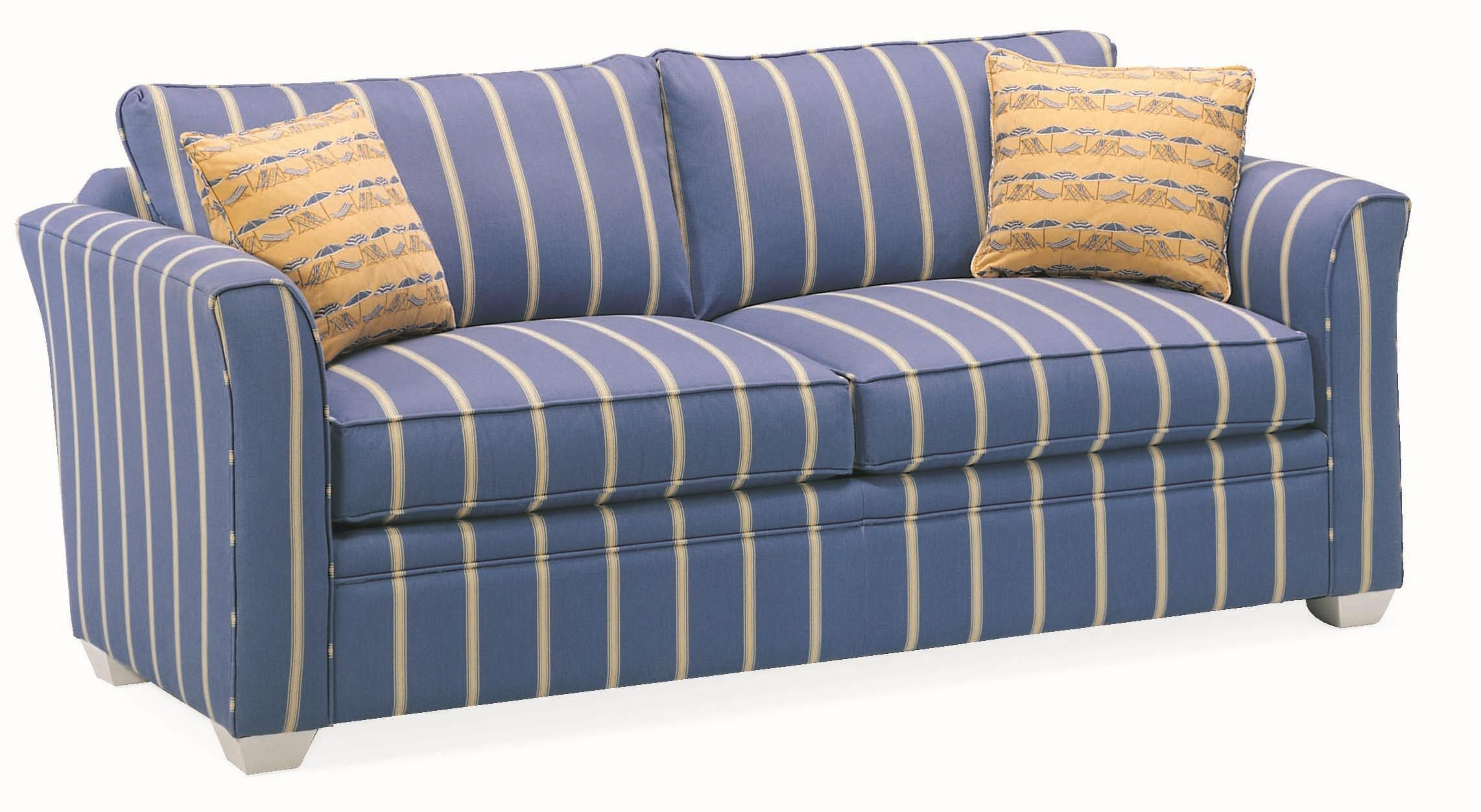 Casual Two Person Stationary Sofa with Exposed Wood Feet