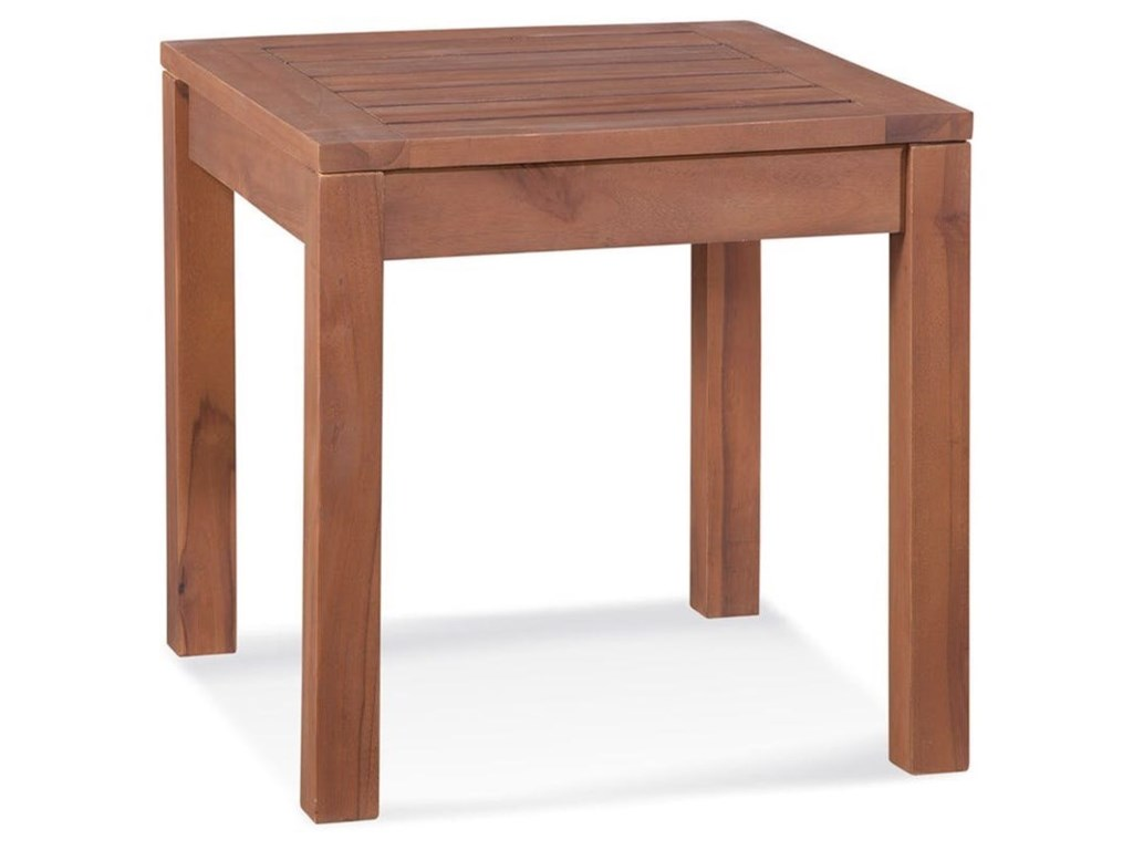 Braxton Culler Messina Outdoor Teak End Table Hudsons - Teak outdoor end table