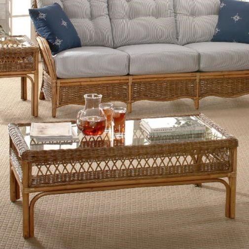 Vendor 10 Nassau 907 072 Wicker Coffee Table With Glass Top Becker