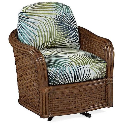 Braxton Culler 953 Wicker Swivel Club Chair Design