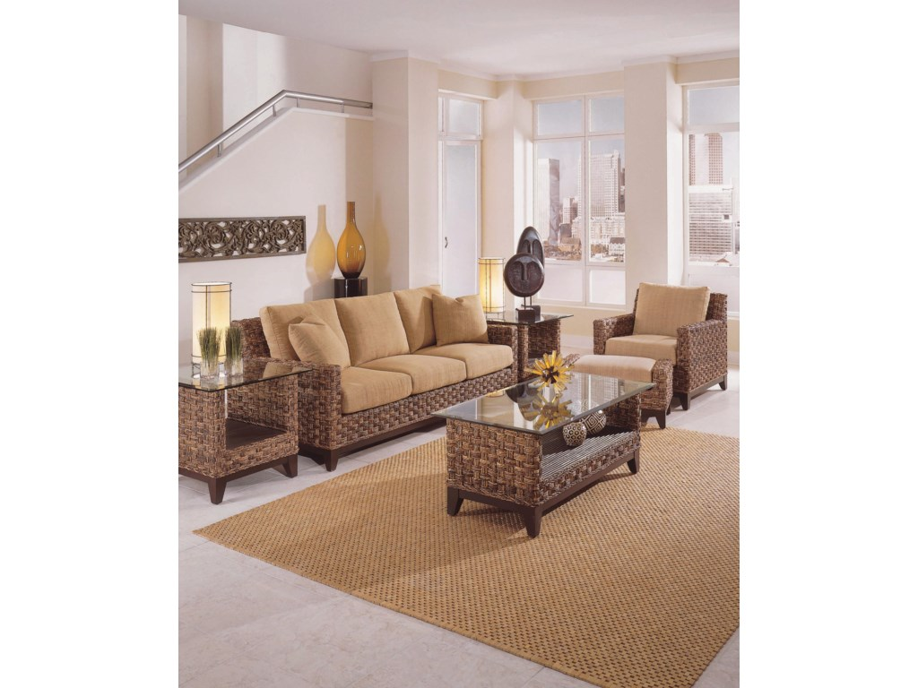 Shown with End Tables, Sofa, Cocktail Table, and Ottoman