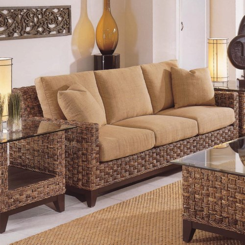 Braxton Culler Tribeca 2960 Modern Wicker Three Seat Queen Sleeper