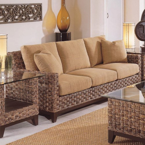 Braxton Culler Tribeca 2960 Modern Wicker Three Seat Queen Sleeper Sofa With Air Mattress