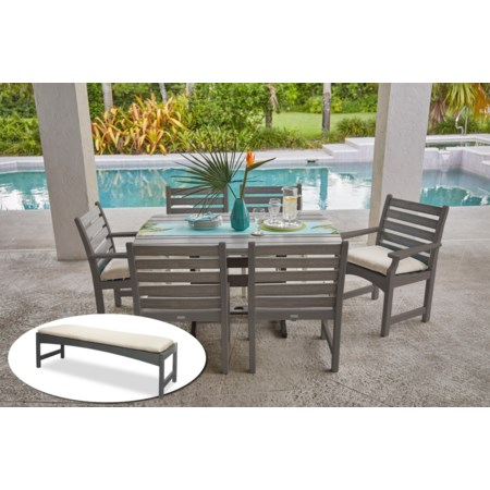 Table, Arm Chairs, Side Chairs, Bench