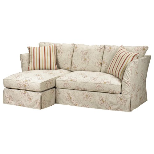 Brentwood Classics 5742 Small Sectional Sofa with Left Side Chaise in Casual Furniture Style