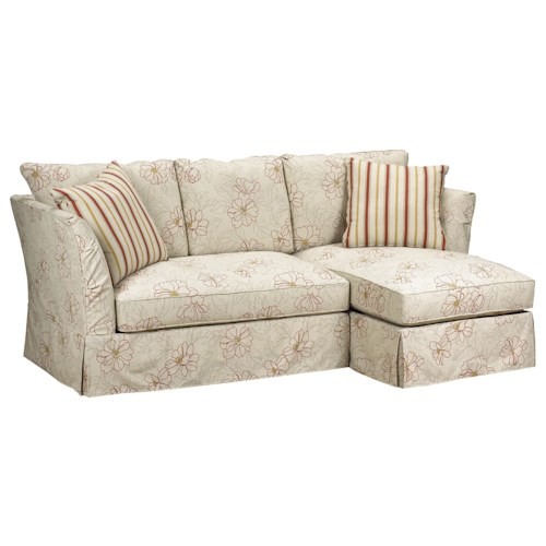Brentwood Classics 5742 Small Sectional Sofa with Right Side Chaise in Casual Furniture Style