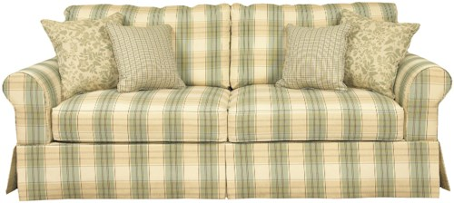 Brentwood Classics 5780 Queen Size Sofa Bed with Rounded Arms and Casual Skirt