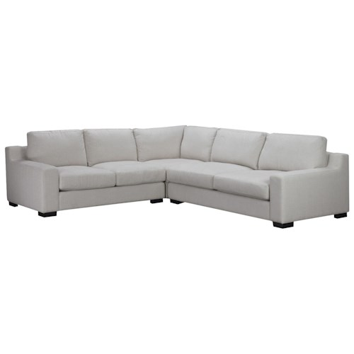 Brentwood Classics Athena 3 Piece Sectional with Track Arms