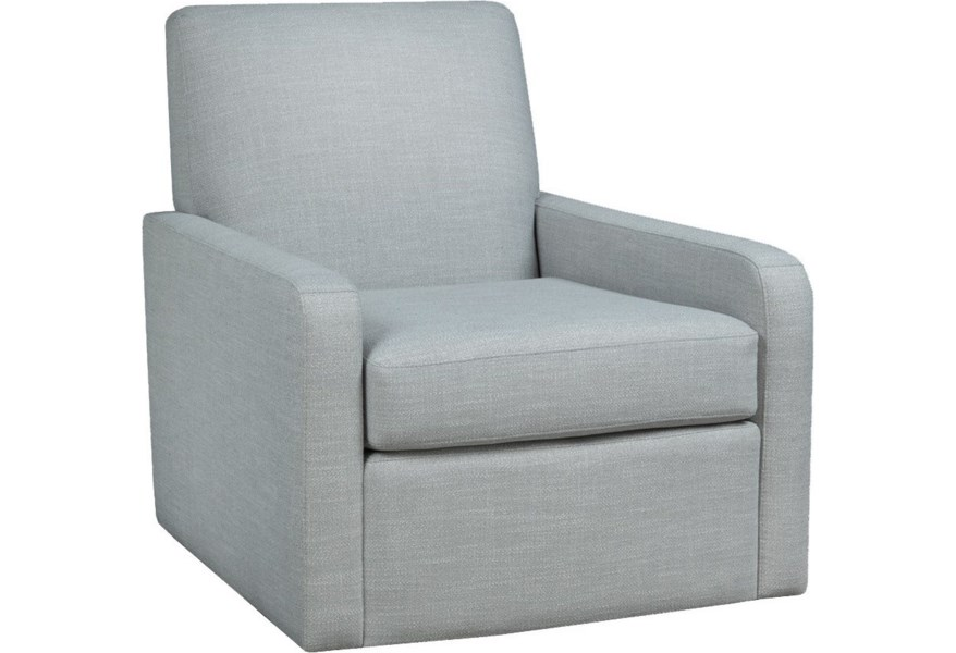 Brentwood Classics Riley Contemporary Swivel Chair Stoney Creek Furniture Upholstered Chairs