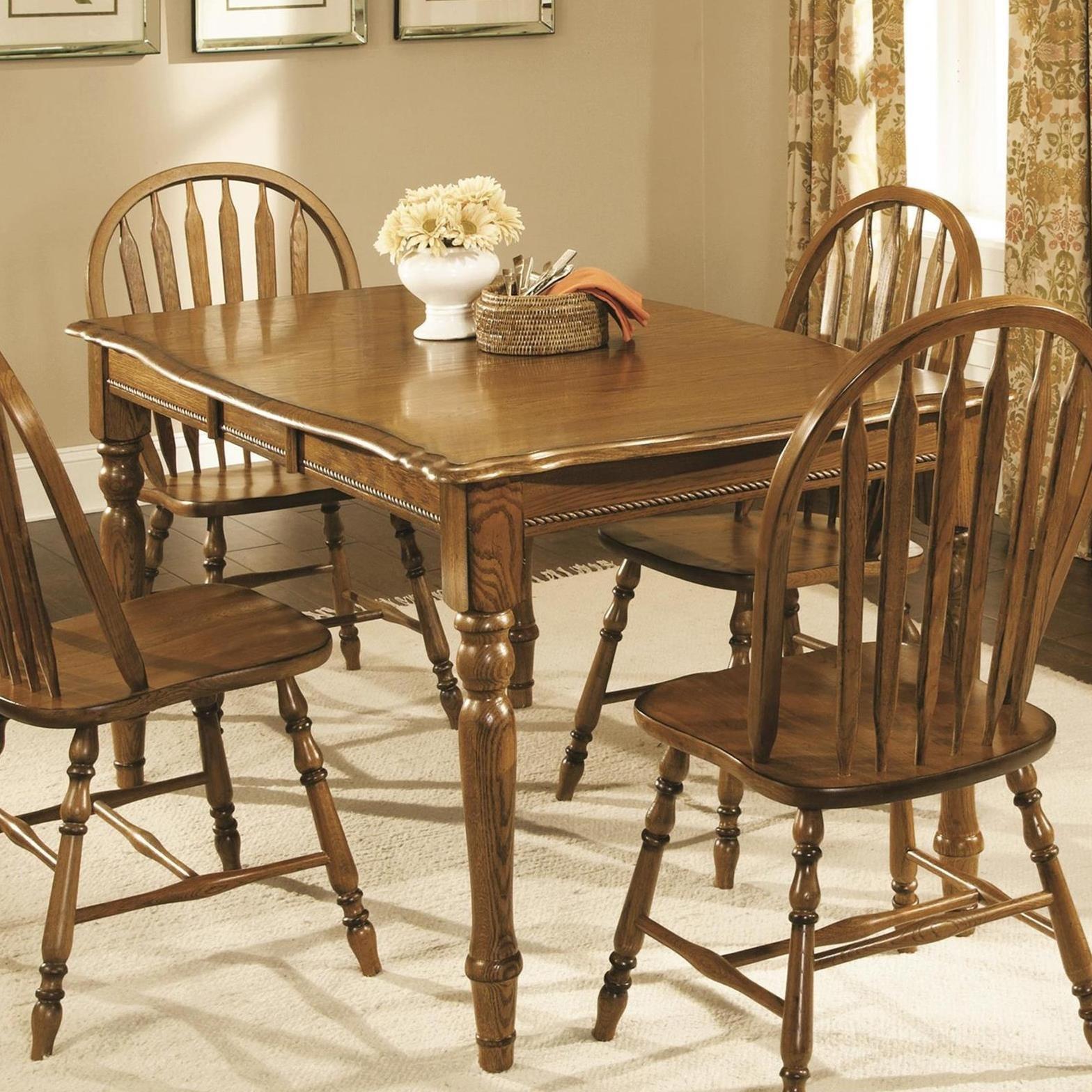 Brooks Classic American OakRectangular Leg Table ...