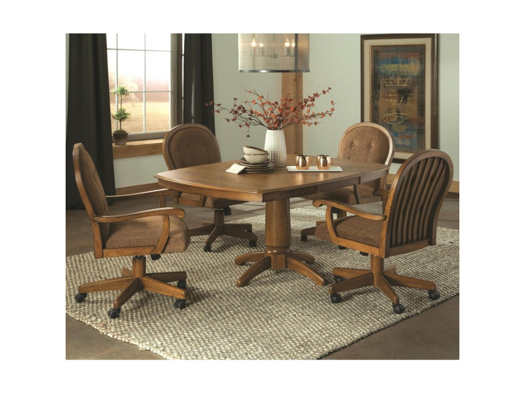 Brooks Easy Living 5 Piece Caster Swivel Chair Dining Set Dean Bosler S Dining 5 Piece Sets
