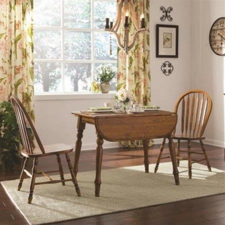 Laminate Drop Leaf Table with 2 Arrow Back C