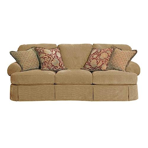 Broyhill Furniture McKinney Skirted Sofa