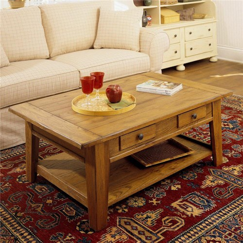 Broyhill Furniture Attic Heirlooms Rectangular Cocktail Table