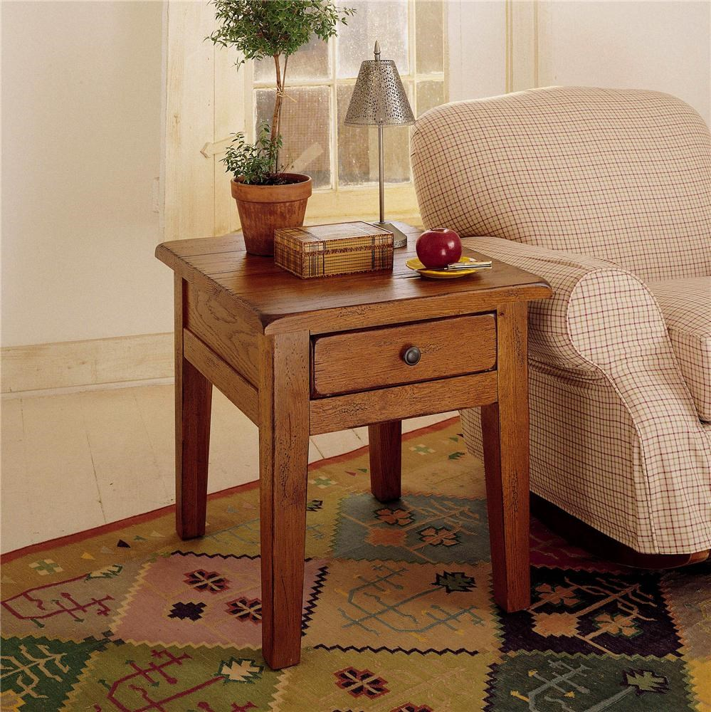 Attic Heirlooms End Table With 1 Drawer