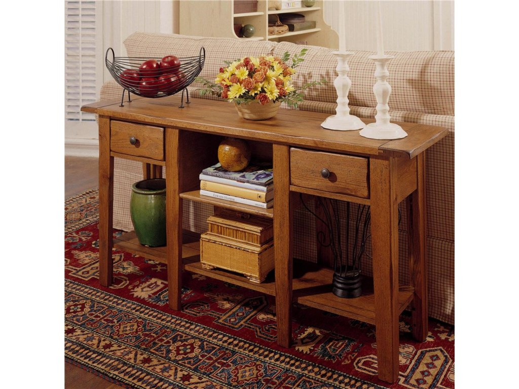 Broyhill Furniture Attic Heirlooms Rectangular Sofa Table with 2 ...