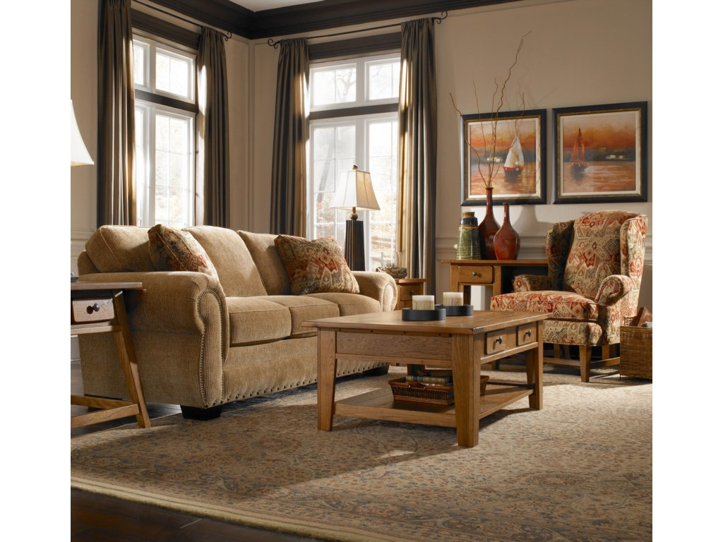 Shown in Room Setting with Accent Chair