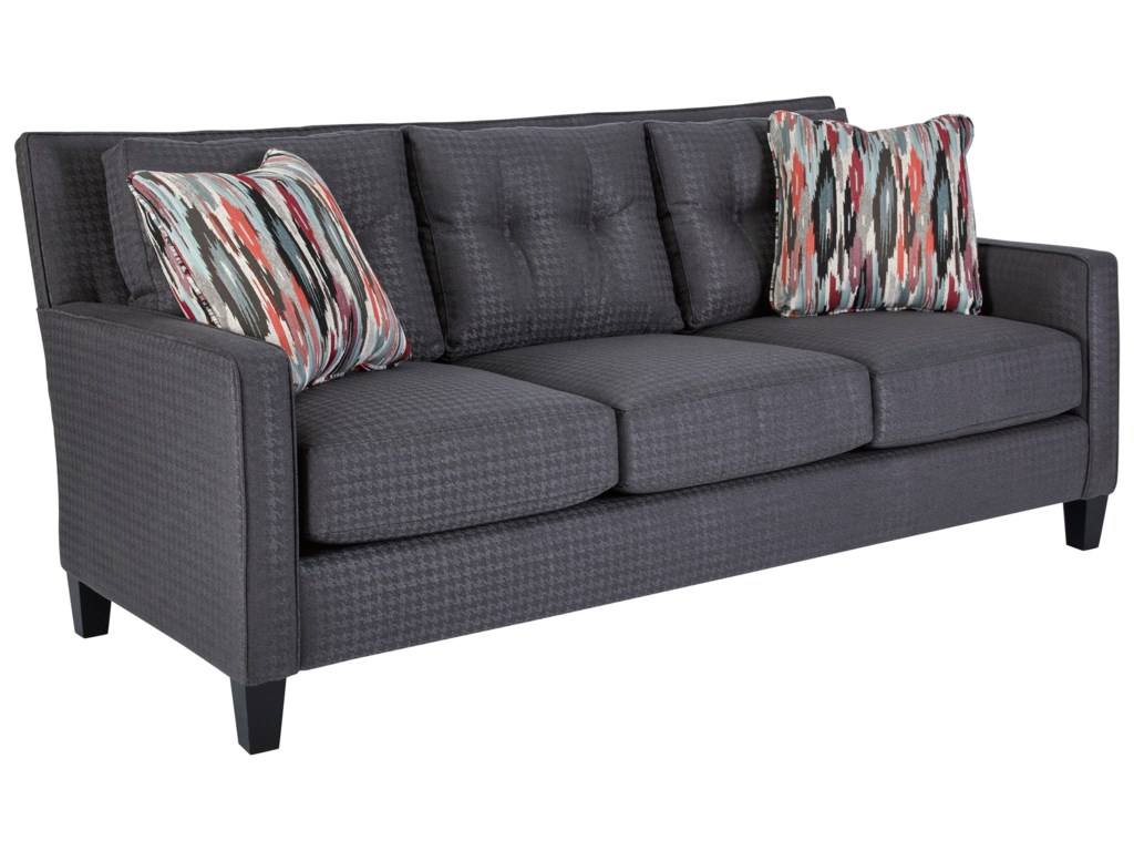 Jevin Contemporary Sofa With Narrow Arms And Tufted Loose Back Cushions By Broyhill Express