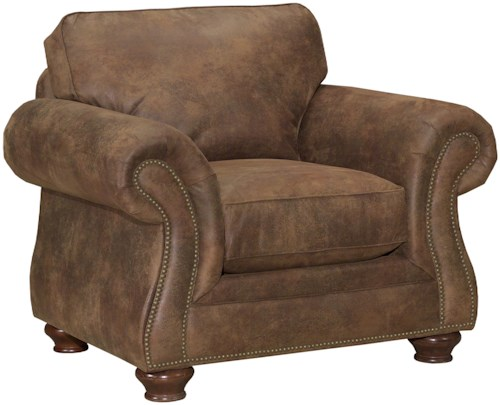 Broyhill Express Laramie Quick Ship Traditional Chair with Nailhead Trim