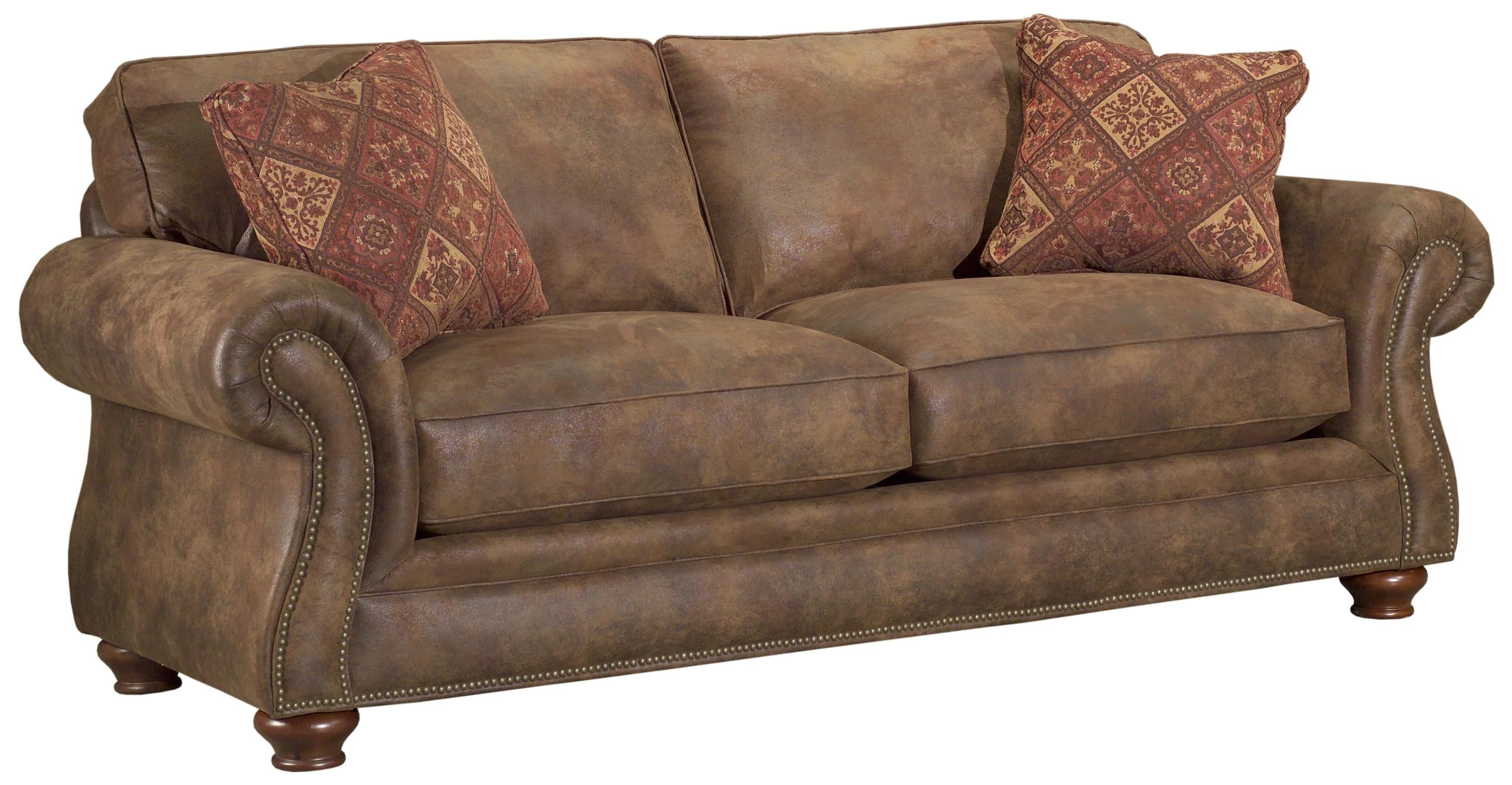 traditional sleeper sofa bed broyhill express laramie quick ship traditional sleeper sofa with nail head trim