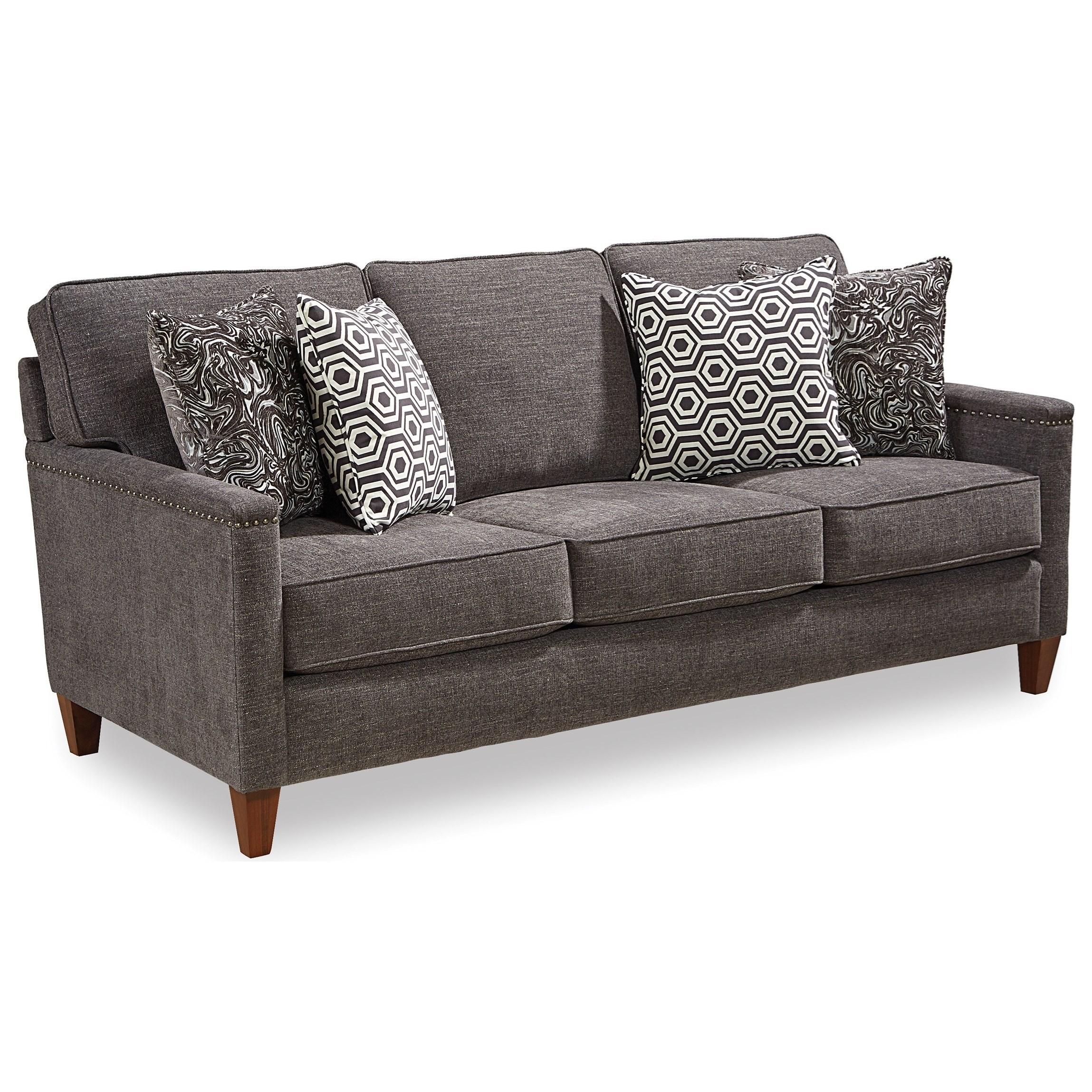Fifth Avenue Contemporary Sofa With Track Arms And Nailhead Trim By  Broyhill Express