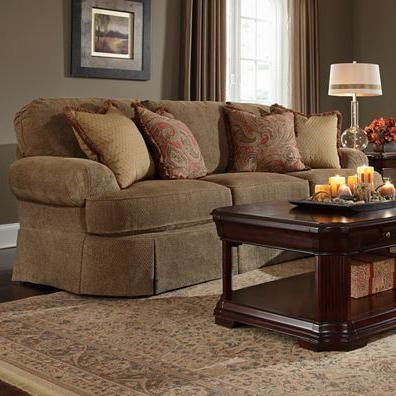 Broyhill Express Mckinney Traditional Sofa With Curved Front And