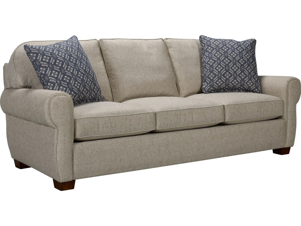 Taylor Transitional Quick Ship Sofa With Rounded Seat Back By Broyhill Express