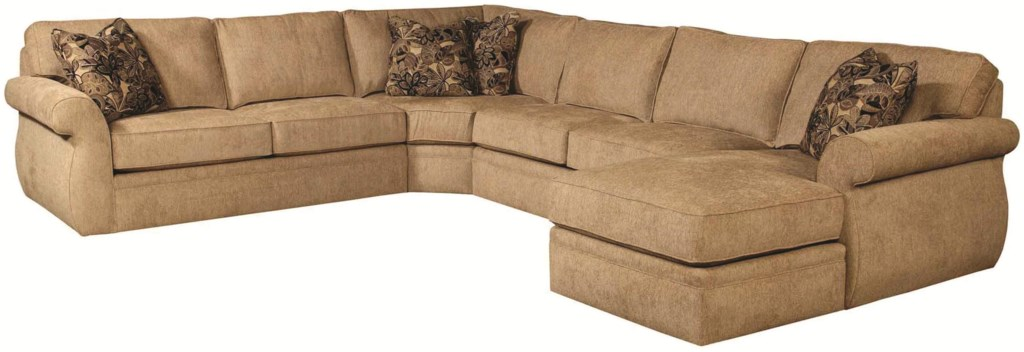 Veronica Quick Ship Sectional Sofa Group With Wedge Right Chaise  ~ Sectional Sofa With Wedge