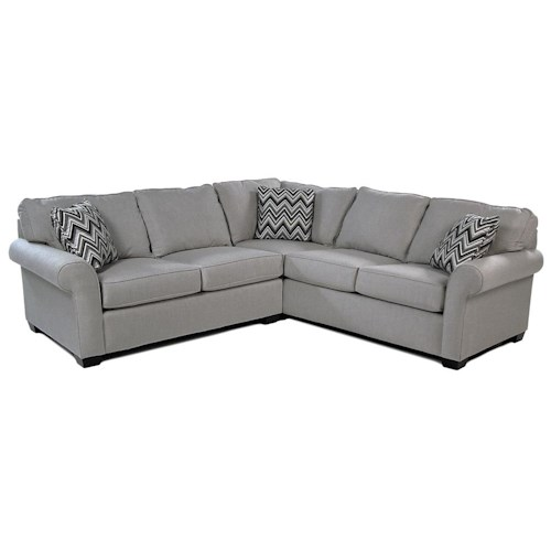 Broyhill Furniture Penobscot 2PC Sectional w/ Sunbrella Performance Fabric