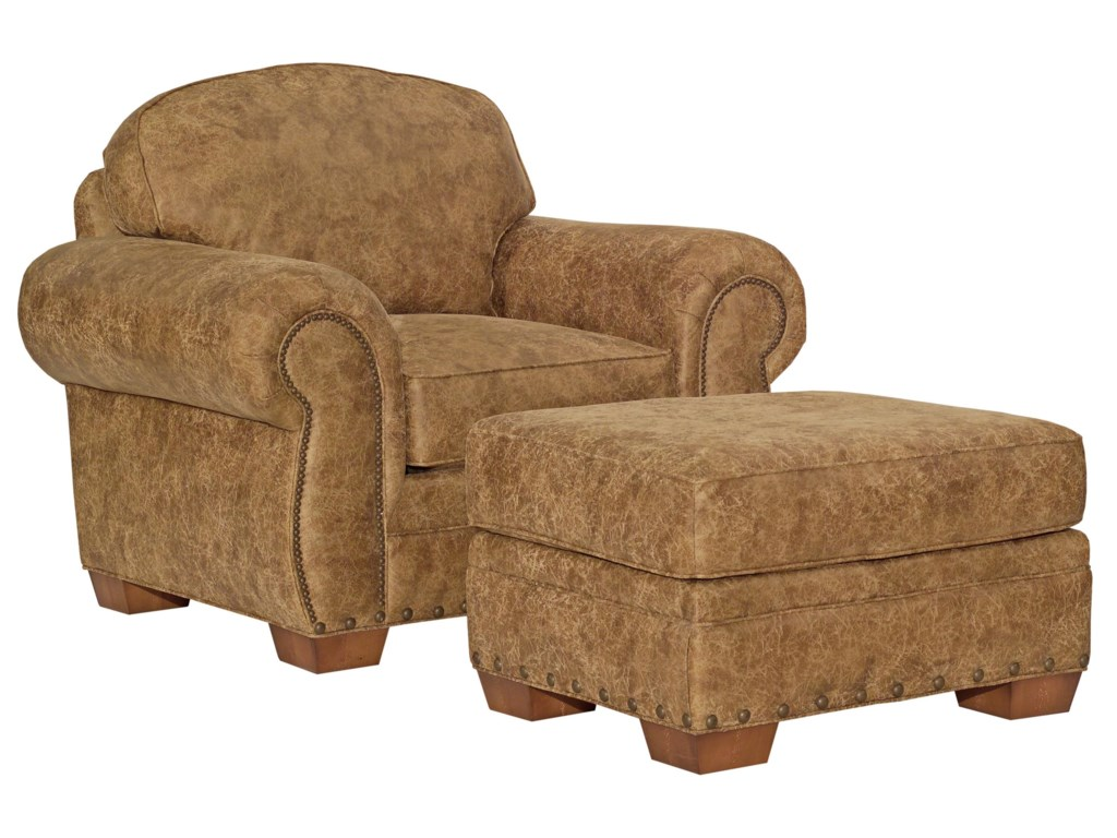 Broyhill Furniture CambridgeCasual Style Chair and Ottoman