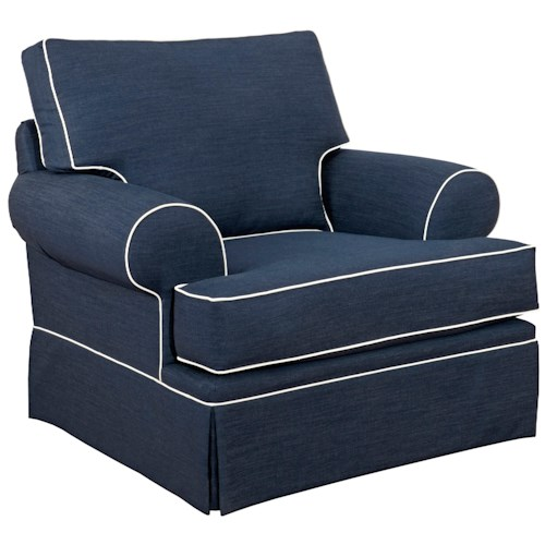 Broyhill Furniture Emily Casual Style Chair with Skirt Covered Base