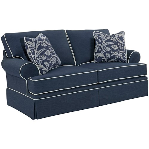 Broyhill Furniture Emily Casual Loveseat with Skirted Base