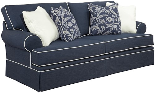 Broyhill Furniture Emily Casual Style Sofa with Rolled Arms and ...