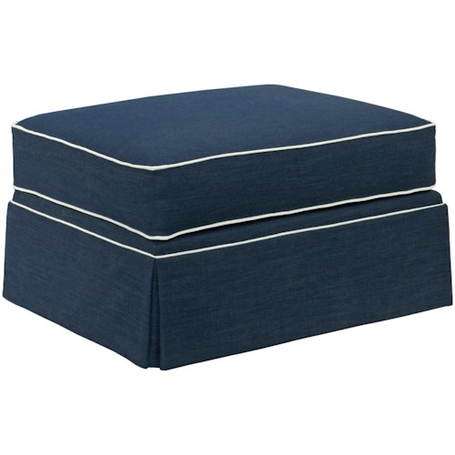 Broyhill Furniture Emily Ottoman with Skirted Base
