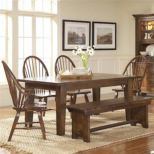 Broyhill Furniture Attic Rustic 6Pc Dining Room
